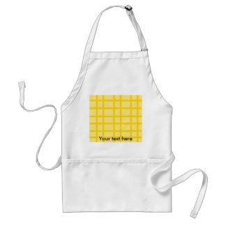 Modern yellow grid pattern adult apron