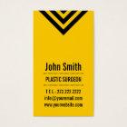 Modern Yellow Plastic Surgeon Business Card