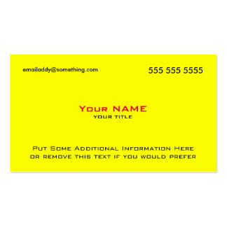 Modern Yellow Red QR Code Business Card Templates