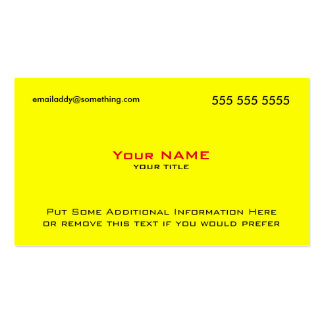 Modern Yellow Red QR Code Pack Of Standard Business Cards