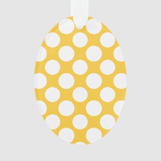 Modern Yellow White Polka Dots Pattern