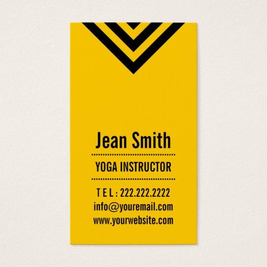 Modern Yellow Yoga instructor Business Card