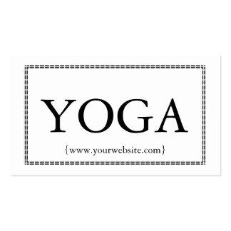 Modern Yoga Instructor Bold Border Professional Pack Of Standard Business Cards