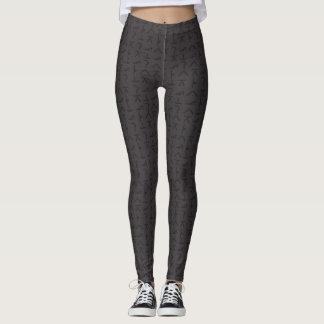 Modern Yoga Symbols - Leggings / Yoga Pants - Grey