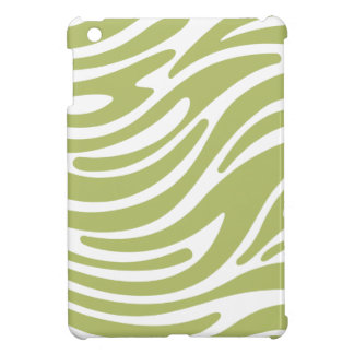 Modern Zebra Print iPad Mini Case (green & white)