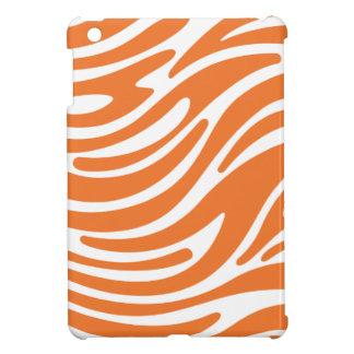 Modern Zebra Print iPad Mini Case (orange & white)