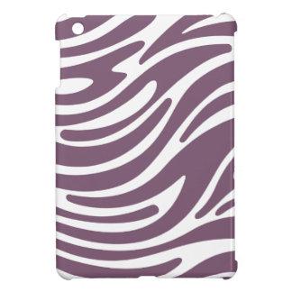 Modern Zebra Print iPad Mini Case (purple & white)