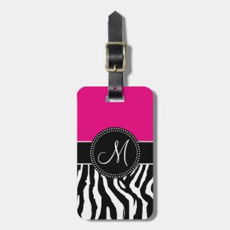 Modern Zebra Print Luggage Tag