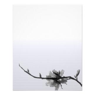 Modern Zen Spring/ Black&White Floral Business 11.5 Cm X 14 Cm Flyer