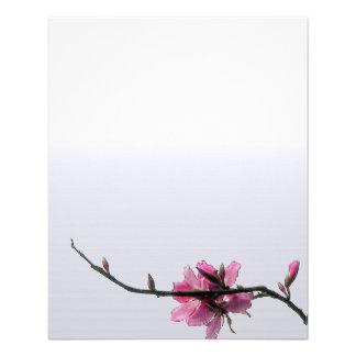Modern Zen Spring Floral Business Custom Flyer