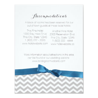 Modern Zigzag Pattern and Bow Information Card 11 Cm X 14 Cm Invitation Card