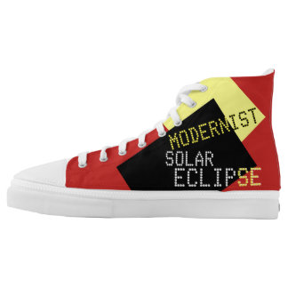 Modernist Solar Eclipse Funny customizable High Tops