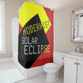 Modernist Solar Eclipse Funny customizable Shower Curtain