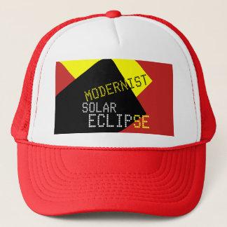 Modernist Solar Eclipse Funny customizable Trucker Hat