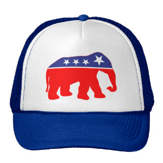 Modernized GOP Elephant Trucker Hats