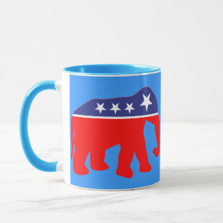 Modernized GOP Elephants Mug