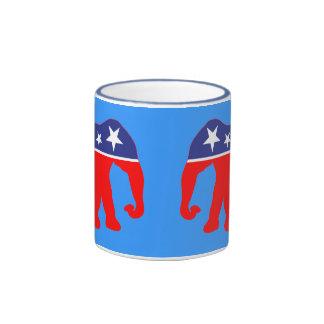 Modernized GOP Elephants Ringer Mug