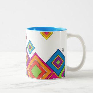 ModernRetro Diamonds Two-Tone Coffee Mug