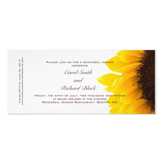 ModernYellow Sunflower Rehearsal Dinner Invitation