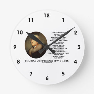 Modest Cottage Books Family Old Friends Bacon Round Clock