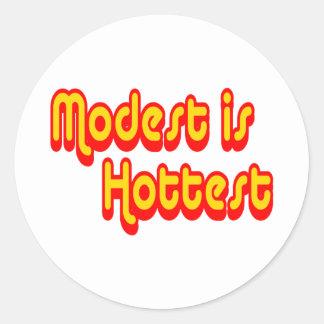 Modest is Hottest Classic Round Sticker