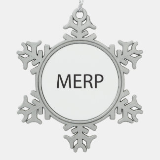 Modestly Enlightened Rich People.ai Pewter Snowflake Decoration