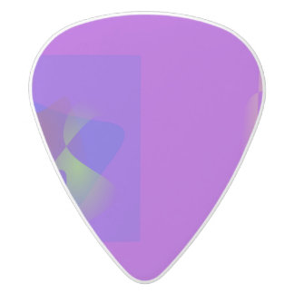Modesty and Elegance White Delrin Guitar Pick