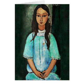 Modigliani Alice Vintage Fine Art Painting Card