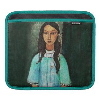 Modigliani Alice Vintage Fine Art Painting Sleeve For iPads