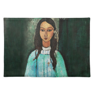 Modigliani Alice Vintage Fine Art Painting Cloth Place Mat