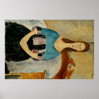 Modigliani Amedeo Portrait Poster