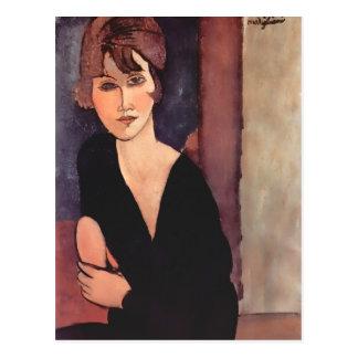 Modigliani Portrait of Madame Reynouard Postcard