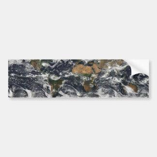 MODIS World Map Bumper Sticker