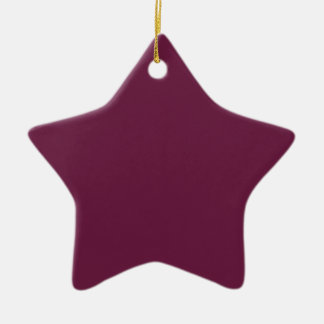Modishly Masterful Maroon Color Ceramic Star Decoration
