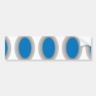 Modular Blue Colorblock Bumper Sticker