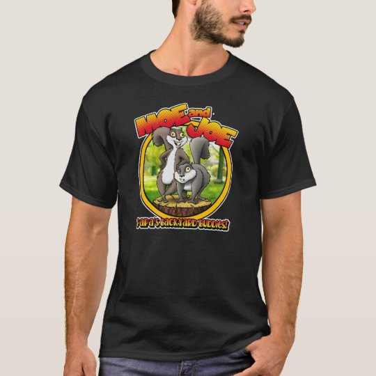 Moe and Joe Crazy Squirrels Mens Dark T-Shirt