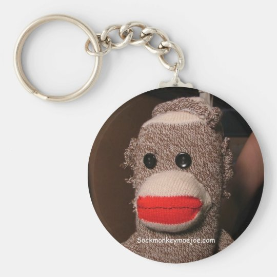 Moe Sock Monkey Keychain