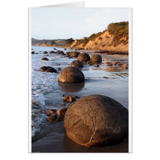 Moeraki boulders New Zealand Card