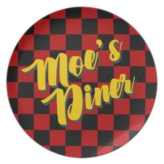Moe's Diner Melamine Plates