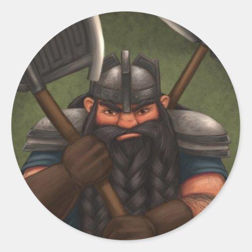 Mogar Grobras (Mog) - Autocollants Round Sticker