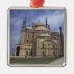 Mohammed Ali Mosque at the Citadel of Cairo, 2 Silver-Colored Square Decoration
