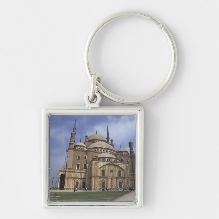 Mohammed Ali Mosque at the Citadel of Cairo, 2 Silver-Colored Square Key Ring