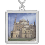 Mohammed Ali Mosque at the Citadel of Cairo, 2 Square Pendant Necklace