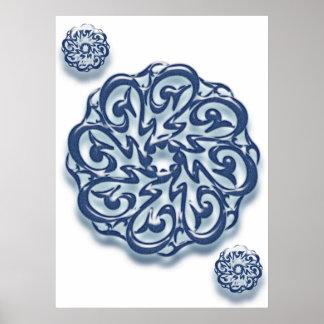 Mohammed pbuh calligraphy print