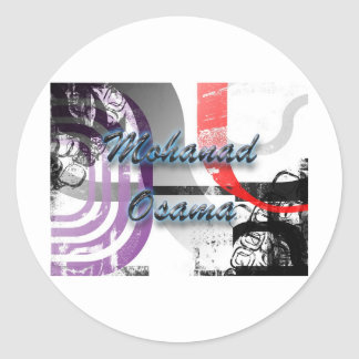 mohanad osama round sticker