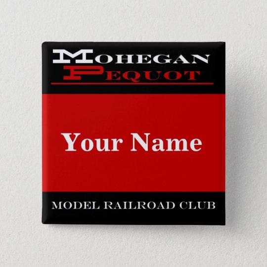 Mohegan Pequot Name Tag 15 Cm Square Badge