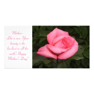 Mohter s Day Rose Photo Card
