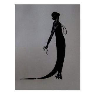 Moi Fashion Plate ~ Postcard French Vintage