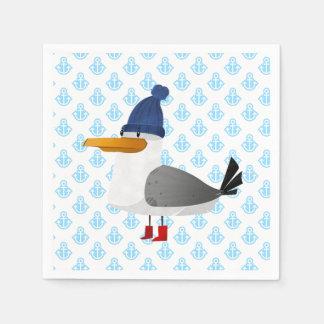 """Moin Moin"" Seagull Disposable Serviettes"