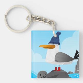 """Moin Moin"" Seagull Key Ring"